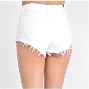KANCAN White Distressed Shorts KC1539WT Size Small